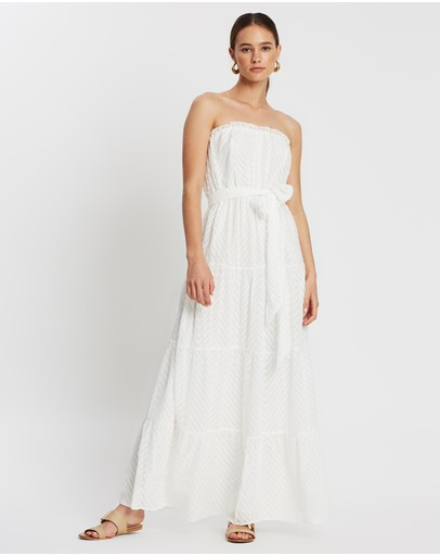 Atmos&here Rachelle Belted Maxi Dress White