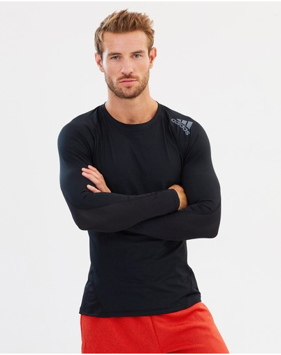 Adidas Performance Alphaskin Sport Long Sleeve Tee Black
