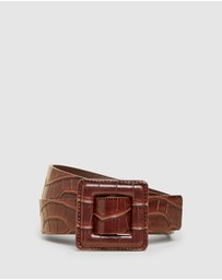 French Connection - Tonal Embossed Belt
