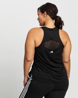 adidas Performance 3 Bar Logo Tank Top - Muscle Tops (Black & White)