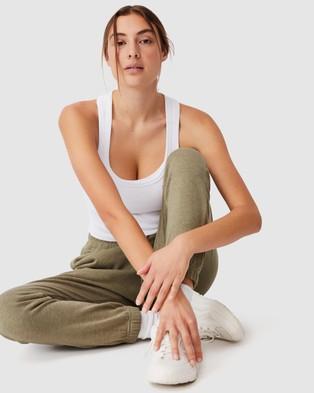 Cotton On Body Active Lifestyle Gym Track Pants - Sweatpants (Oregano Marle)