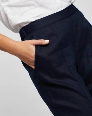 David Lawrence Tapered Linen Pant - Pants (MIDNIGHT)