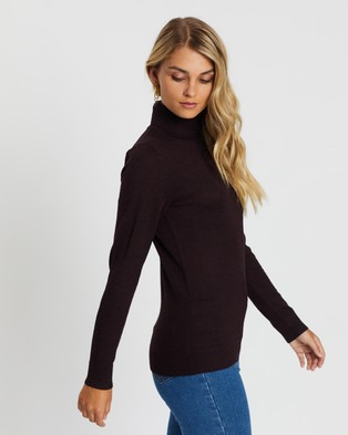Atmos&Here Kate Turtle Neck Knit - Jumpers & Cardigans (Brown)