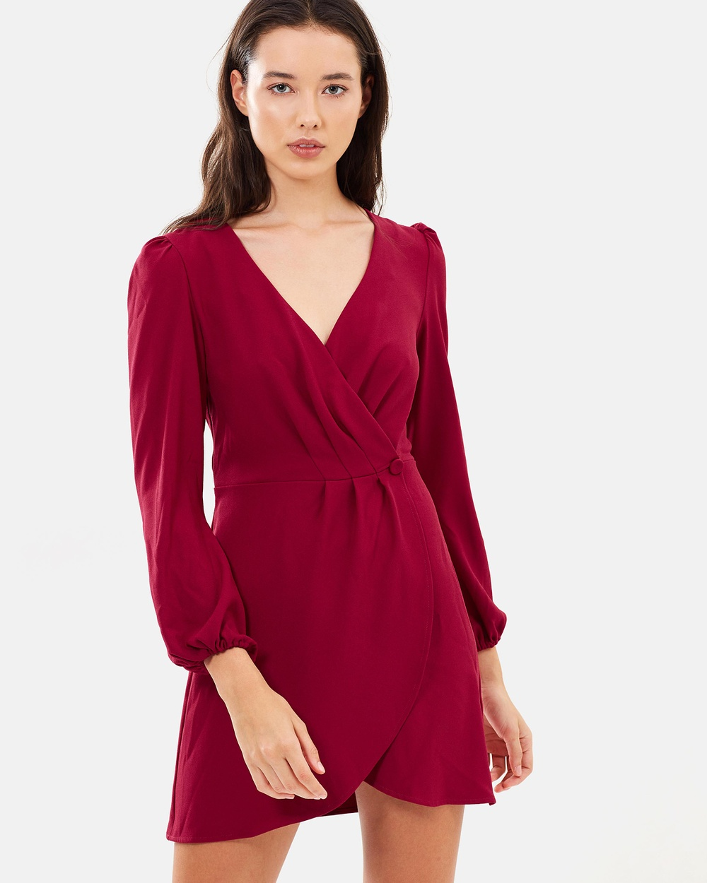 The Fifth Label Chemistry LS Wrap Dress Dresses Berry Chemistry LS Wrap Dress