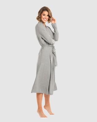 Deshabille Sleepwear - Essentiel Robe (Grey Marle)