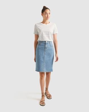 Sportscraft Brodie Denim Skirt - Denim skirts (Washed Denim)