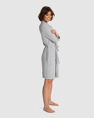Deshabille Sleepwear  Honour Robe - Sleepwear (Grey Marle)