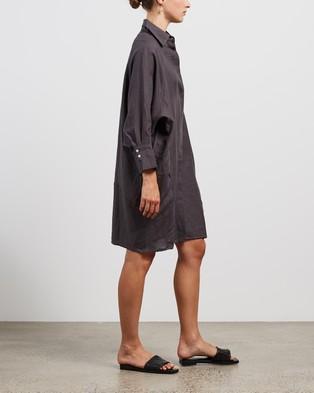 Andrea & Joen Evie Shirt Dress - Dresses (Charcoal)