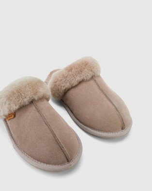 Hush Puppies Cushy - Slippers & Accessories (Taupe Suede)