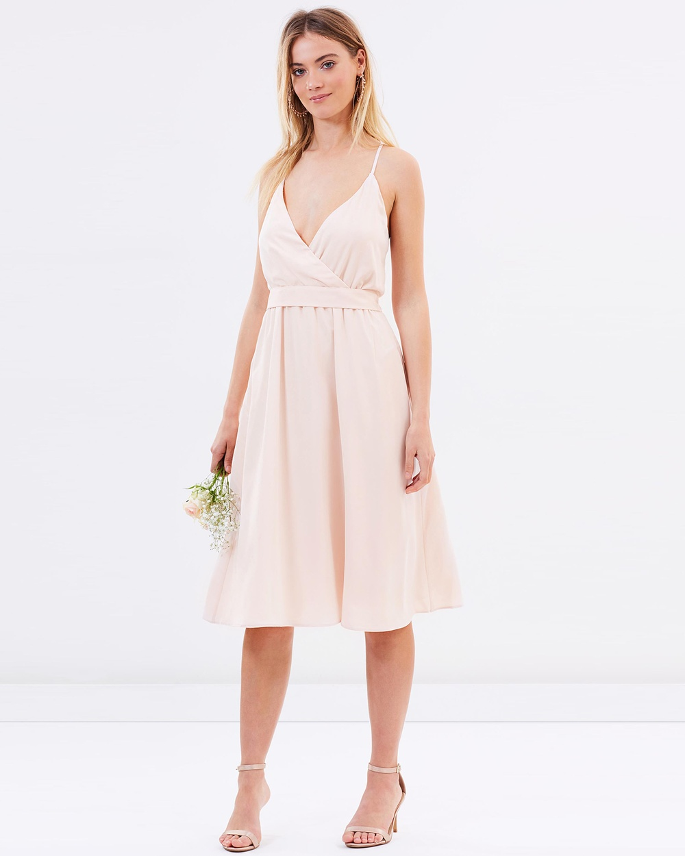 Atmos & Here ICONIC EXCLUSIVE Arabella Cross Back Dress Bridesmaid Dresses Champagne ICONIC EXCLUSIVE Arabella Cross Back Dress