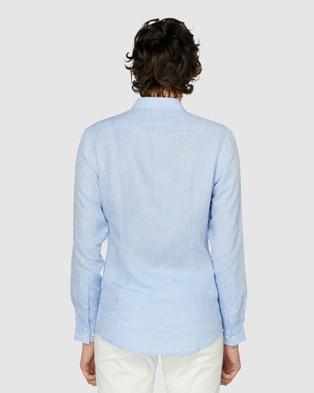 Jack London Blue Linen Resort Shirt - Shirts & Polos (Blue)