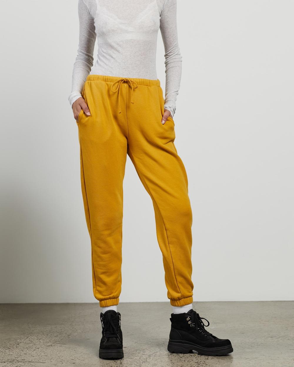 American Vintage Fobye Joggers Sweatpants Vintage Tawny