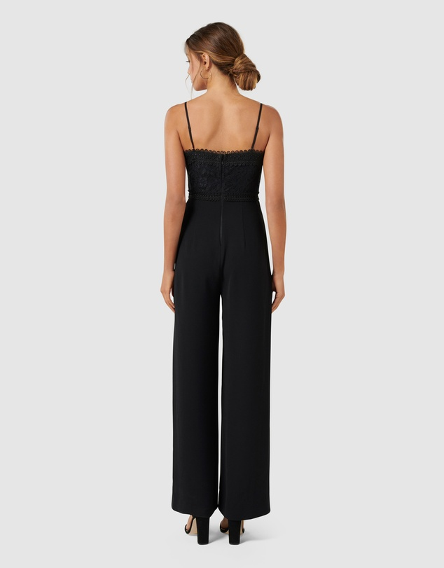 Forever New - Bailey Lace Bodice Jumpsuit