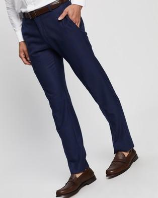 Ben Sherman Check Slim Trousers - Pants (Blue & Orange)
