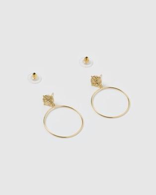Izoa Moments Earrings - Jewellery (Gold)
