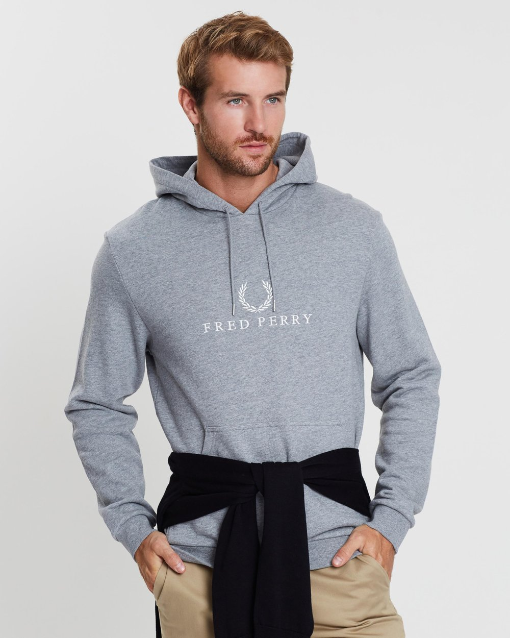 44ddfe701 Embroidered Hooded Sweatshirt by Fred Perry Online | THE ICONIC | Australia