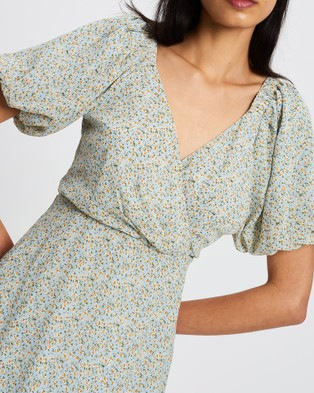 Savel Jessica Mini Dress - Dresses (Pale Blue Floral)