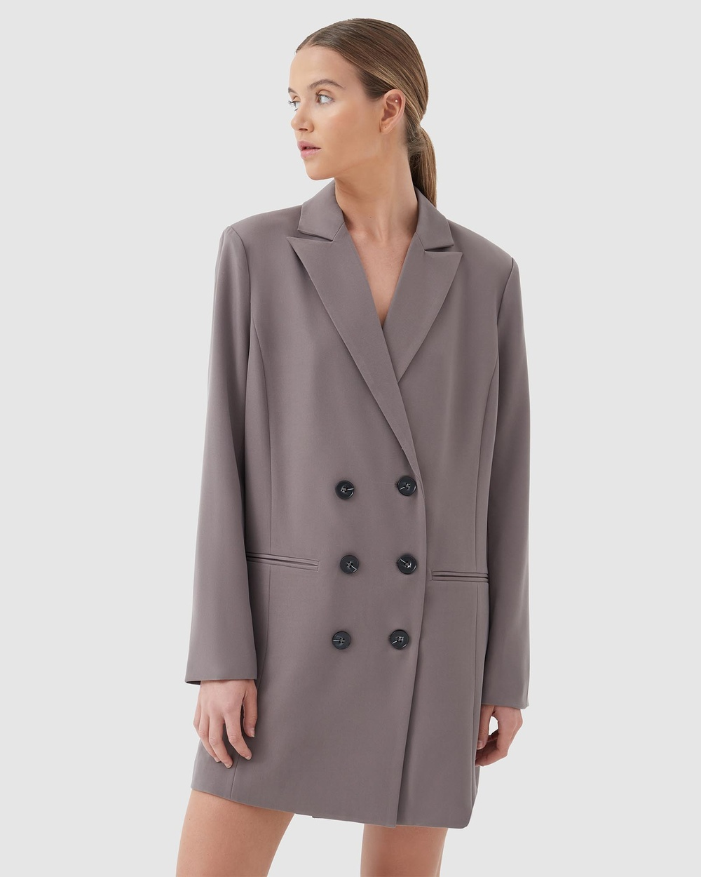 4th & Reckless Delphine Blazer Dresses Taupe