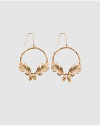 Karen Walker - Acorn and Leaf Wreath Earrings