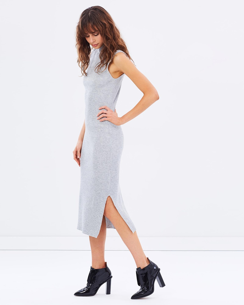 Friend of Audrey Zoe Knit Dress Bodycon Dresses Grey Zoe Knit Dress