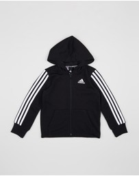 adidas Performance - 3-Stripes Full-Zip Hoodie - Kids-Teens