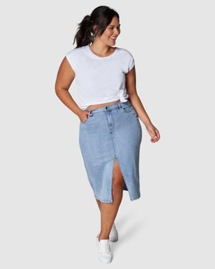 Indigo Tonic Cari Denim Skirt - Denim skirts (BLUE)