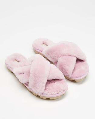 UGG Fuzzette Slides   Women's - Slippers & Accessories (Aster)