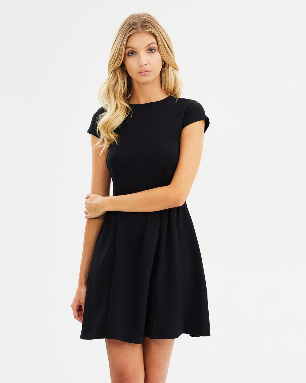 66ea25d52c9 Shoptagr | Plain Seamed Fit And Flare Dress by Dorothy Perkins