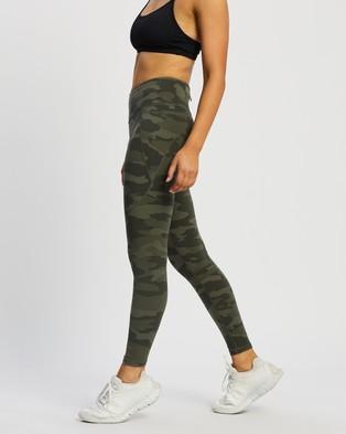 Sweaty Betty Power Workout Leggings - Full Tights (Olive Tonal Camo Print)