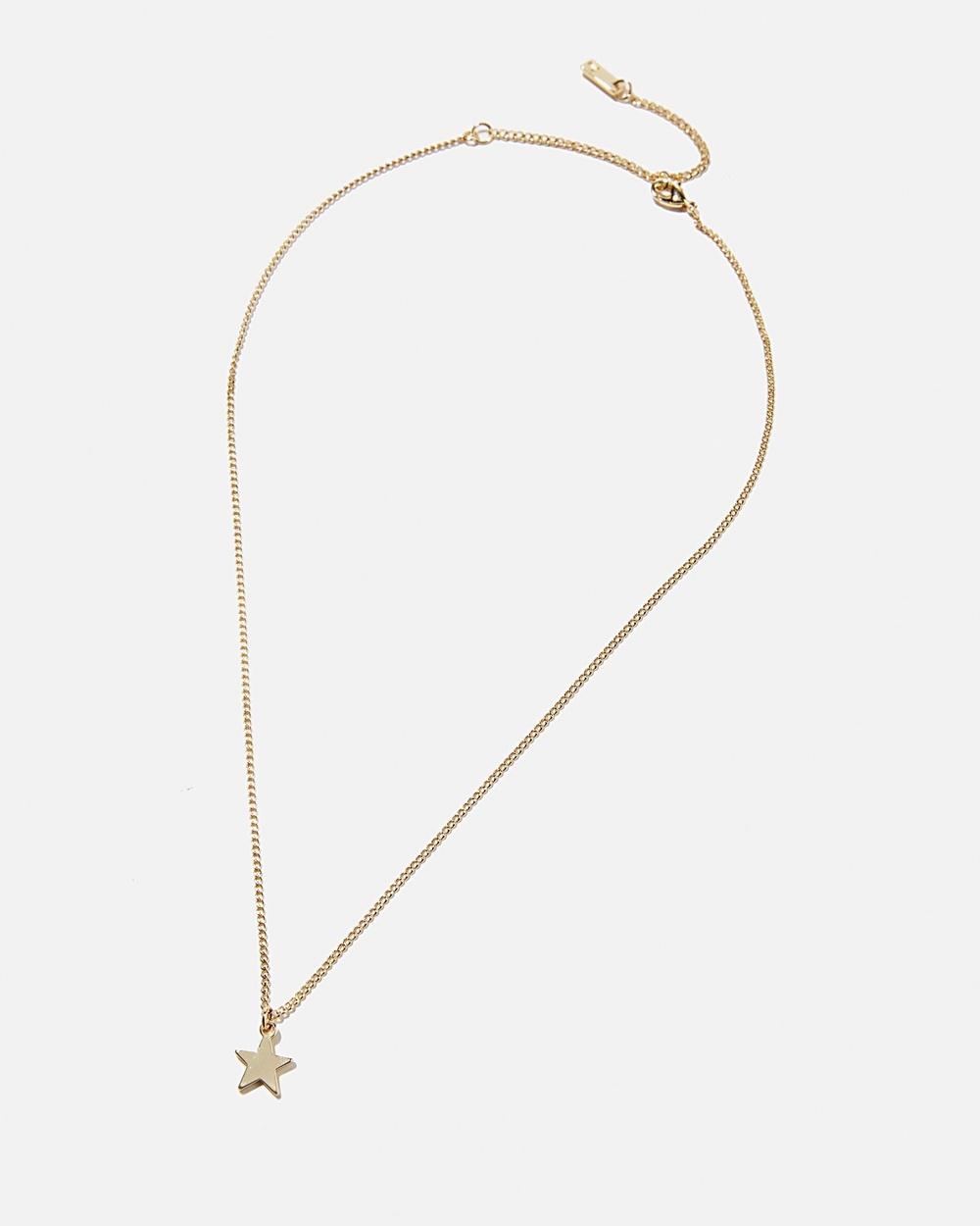 Rubi Premium Pendant Necklace Jewellery Gold Plated Star