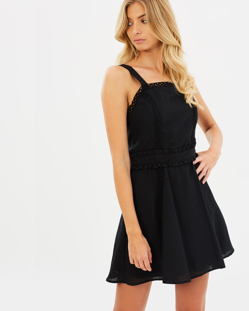 Atmos & Here ICONIC EXCLUSIVE Brandy Mini Dress Dresses Black ICONIC EXCLUSIVE Brandy Mini Dress