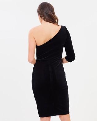 Montique Megan Velour Dress - Bodycon Dresses (Black)