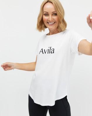 Avila Logo T Shirt - Short Sleeve T-Shirts (White)