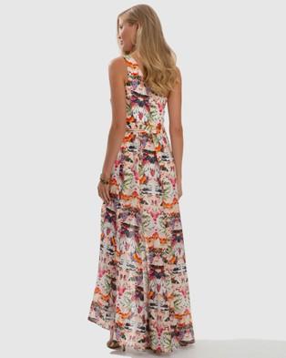 Aqua Blu Australia Delilah Medea One Shoulder Dress - Printed Dresses (Multi)