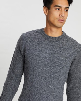 Kent and Curwen - Round Neck Knit - Jumpers & Cardigans (Grey) Round Neck Knit