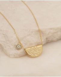 By Charlotte - Lucky Lotus Gold Pendant Necklace