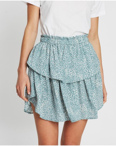 Atmos&here Polly Frill Skirt Mint Micro Ditsy