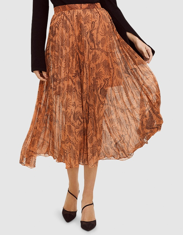 Cooper St - Desert Lily Pleated Skirt