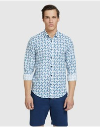 Oxford - Kenton Linen Cotton Floral Shirt