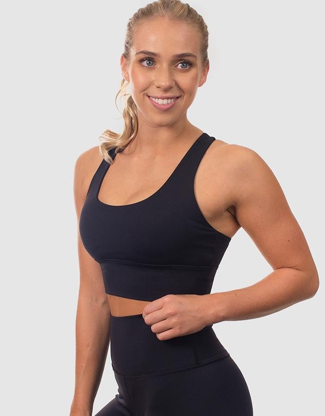 Women Mesh Racer Long Line Sports Bra
