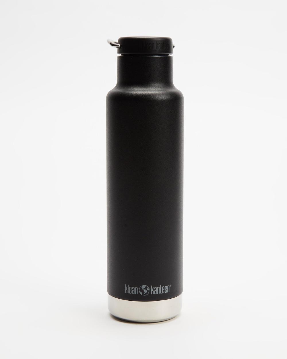 Klean Kanteen 20oz Insulated Classic Loop Cap Bottle Water Bottles Black