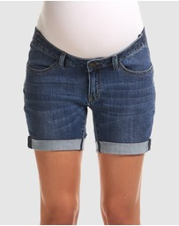 Soon Maternity - Mila Denim Shorts