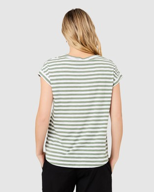 Ripe Maternity Lionel Nursing Tee - T-Shirts & Singlets (Green)