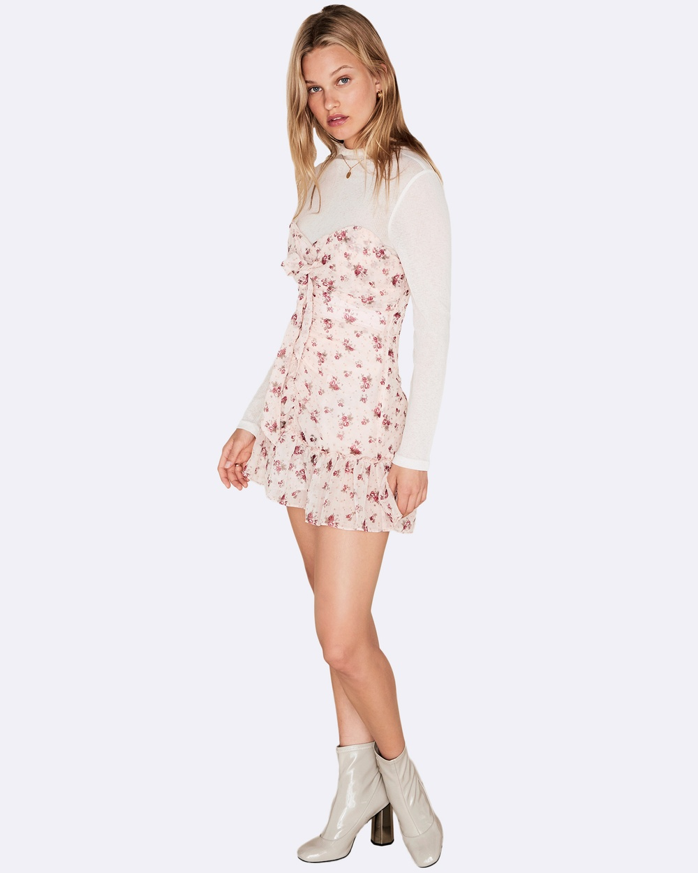 The East Order Lila Mini Dress Dresses Pink Lila Mini Dress