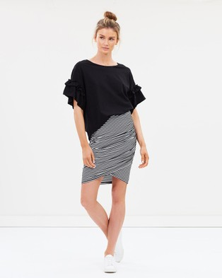 Lincoln St Set Skirt - Skirts (Black Stripe)