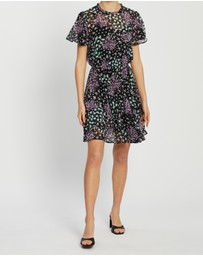 Dorothy Perkins - Ditsy Chiffon Fit-and-Flare Dress