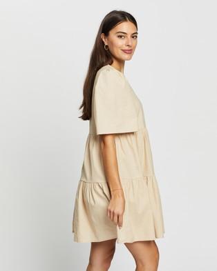 Atmos&Here Amora Cotton Mini Dress - Dresses (Beige)