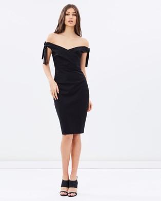 Isla – Midnight Mood Midi Dress – Bodycon Dresses (Black)