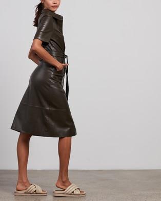 Elka Collective - Reflection Dress Dresses (Olive)
