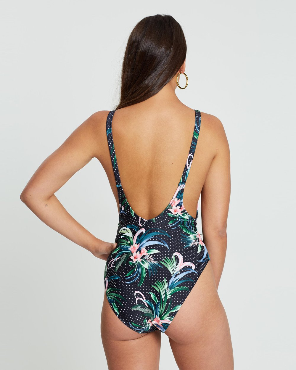 5a0c9389c2 Ultimate Plunge Floral Spot Swimsuit by Missguided Online